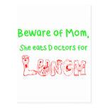 Beware of Mom Postcard