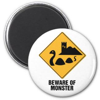 Beware Of Monster 2 Inch Round Magnet