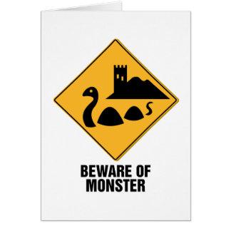 Beware Of Monster Card