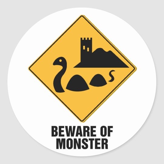 Beware Of Monster Classic Round Sticker