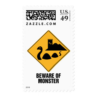 Beware Of Monster Postage Stamp