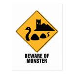 Beware Of Monster Postcards