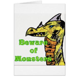 Beware Of monsters Card