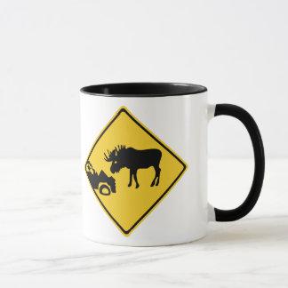 Beware of Moose, Traffic Sign, Canada Mug