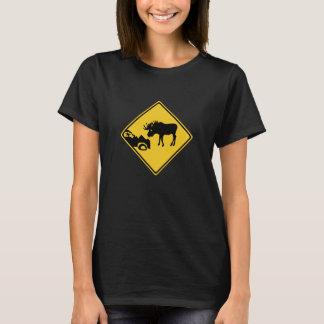 Beware of Moose, Traffic Sign, Canada T-Shirt