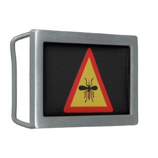 Beware of Mosquitoes, Traffic Sign, Finland Belt Buckle