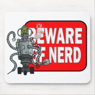 Beware of nerd mouse pad