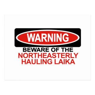 Beware Of Northeasterly Hauling Laika Postcard