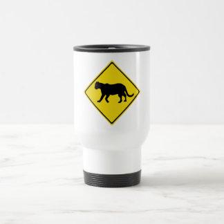 Beware of Panthers, Everglades, Florida, USA Travel Mug