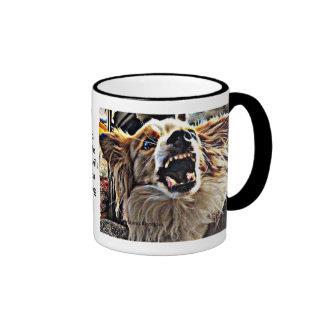 Beware of Papillion! Ringer Coffee Mug