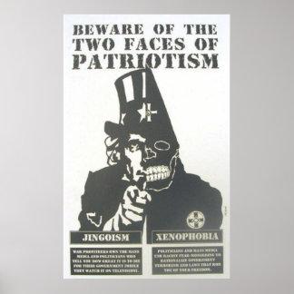beware of patriotism poster
