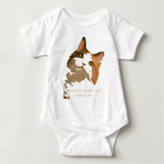 Beware of People That Don't Like Cats Baby Bodysuit