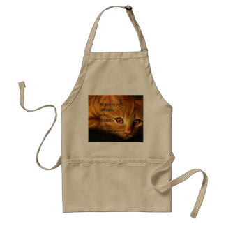 Beware of people who dislike cats adult apron