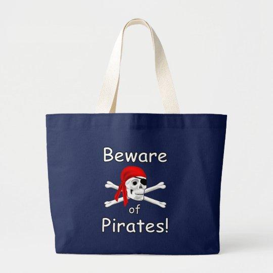 Beware of Pirates Canvas Tote Bag