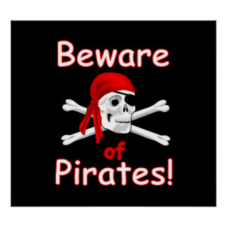 Beware of Pirates Poster