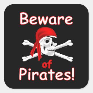 Beware of Pirates Sticker