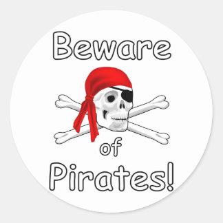 Beware of Pirates Sticker 2