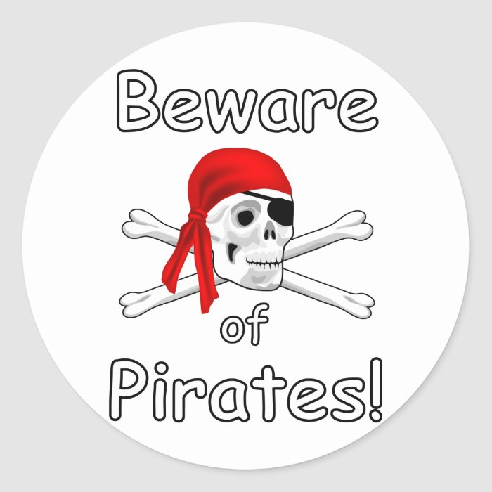 Beware of Pirates Sticker 2