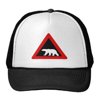 Beware of Polar Bears, Traffic Sign, Norway Trucker Hats