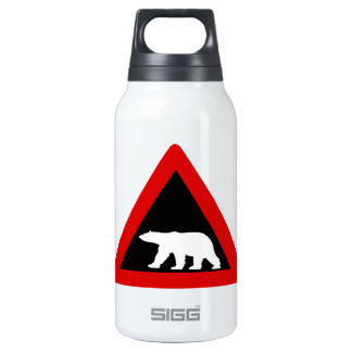 Beware of Polar Bears, Traffic Sign, Norway Insulated Water Bottle