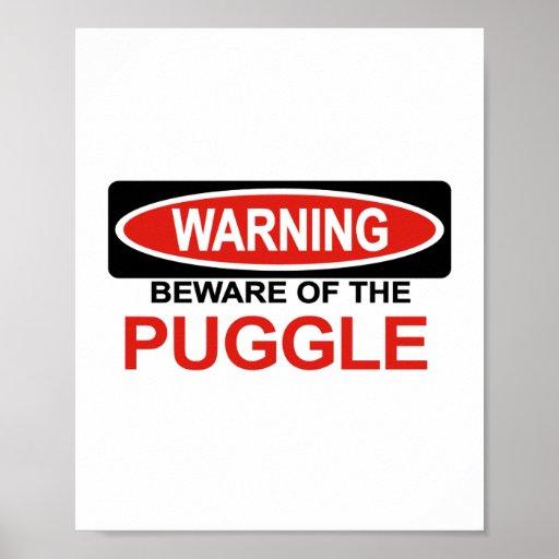 Beware Of Puggle Poster