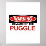 Beware Of Puggle Print