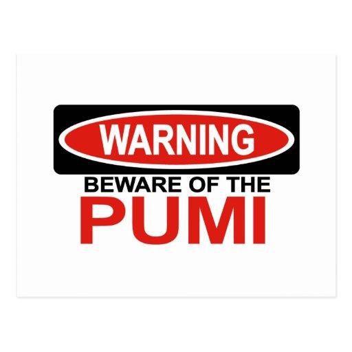 Beware Of Pumi Postcard