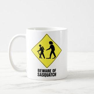 Beware of Sasquatch Classic White Coffee Mug
