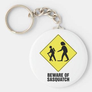 Beware of Sasquatch Keychain