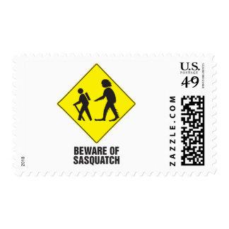 Beware of Sasquatch Postage