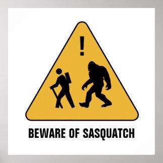 Beware of Sasquatch Poster