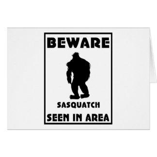 Beware of Sasquatch Poster Card