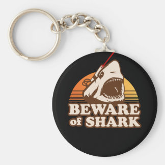Beware of Sharks with Frickin' Laser Beams Key Chains