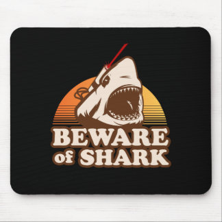 Beware of Sharks with Frickin' Laser Beams Mouse Pad