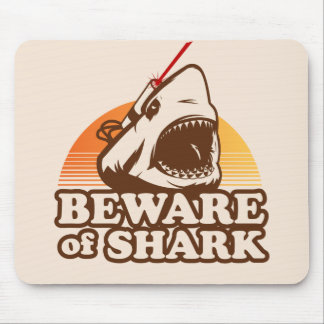 Beware of Sharks with Frickin Laser Beams Mouse Pads