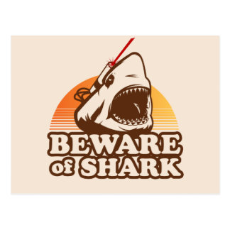 Beware of Sharks with Frickin' Laser Beams Postcards