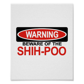 Beware Of Shih-Poo Posters