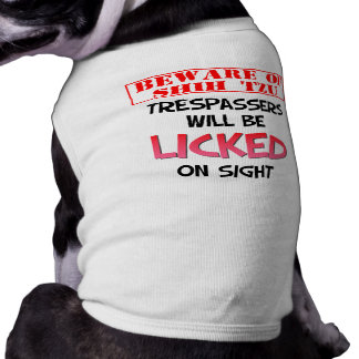 """Beware of Shih Tzu"" Dog Shirt"