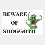 Beware Of Shoggoth Rectangle Stickers