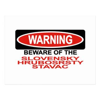 Beware Of Slovensky Hrubosrsty Stavac Postcard