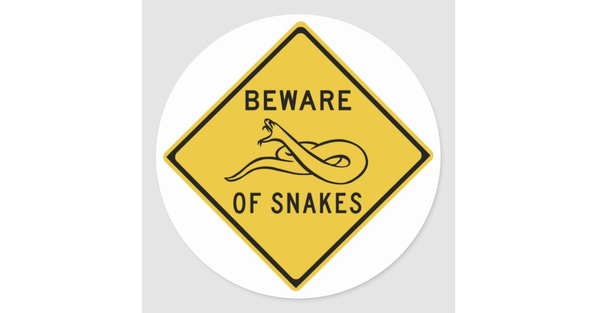 Beware Of Snakes Traffic Warning Sign Australia Classic