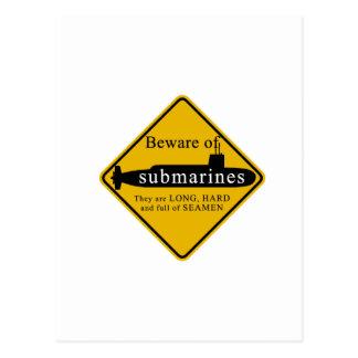 Beware of Submarines Postcard