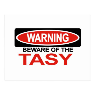 Beware Of Tasy Postcard