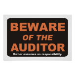 Beware of The Auditor Print