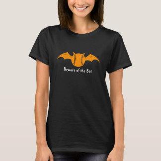 Beware of the Bat Halloween Softball T-Shirt