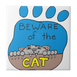 Beware of the Cat Tile
