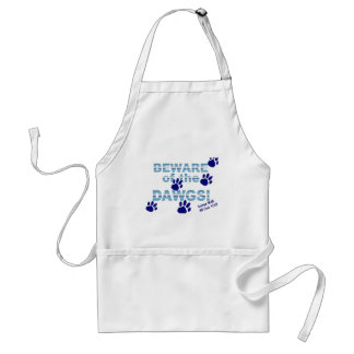 Beware of the dawgs!  Gonna walk all over YOU! Adult Apron