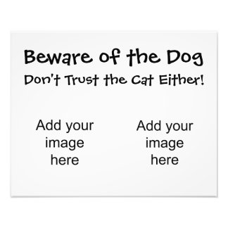 Beware of the dog, Don't trust the cat either! Art Photo