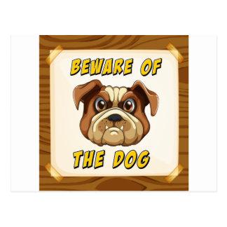 Beware of the dog postcard