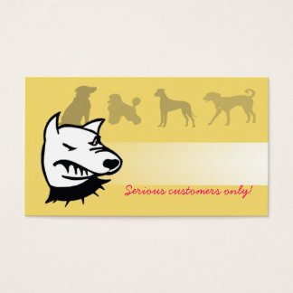 Beware of the dogs. business card